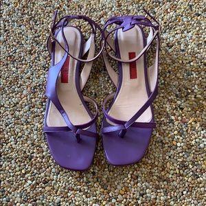 Carolina Herrera purple sandal